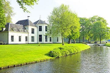 Medieval castle in the countryside from the Netherlands