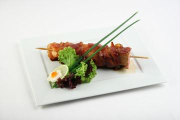 Yakitori with bacon