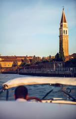 in a boat in venice, italy