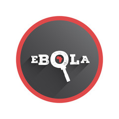 Ebola under the magnifying glass vector