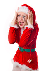 santa girl cries humor heart