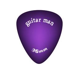 violet sunburst guitar pick