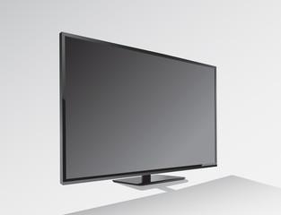 Big black blank screen vector