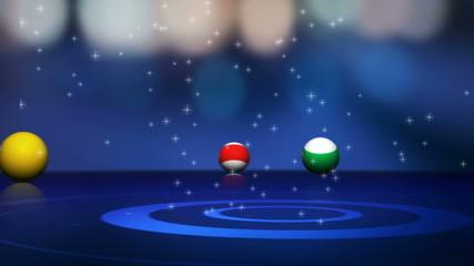 Falling Billiards Balls Transition (3 Variations)