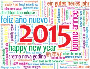 "Carte de Voeux Carte ""BONNE ANNEE 2015"" (happy new year)"