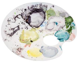 Colorful artist palette