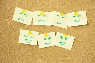 Emoticon on sticky note