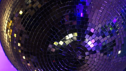 Disco Ball with purple light