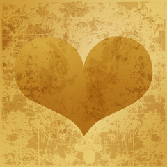 background golden heart