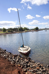 Sunken Yacht on the Danks of the Midmar Dam