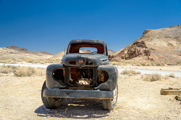 The old truck in the desert, Death Valley, California