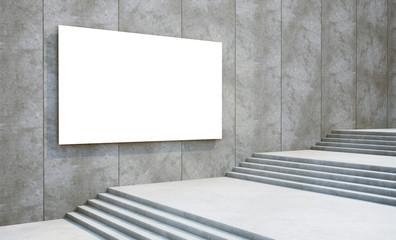 blank billboard on the building
