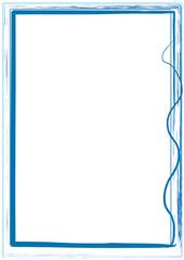 Rahmen blau Striche