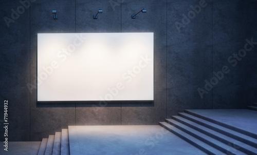 Leinwandbild Motiv lighten blank billboard