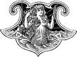 Vintage illustration mermaid - 71945105