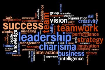 Leadership - world cloud concept