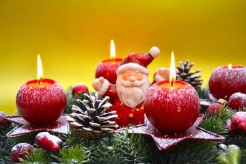 Weihnachtskarte - Adventskranz