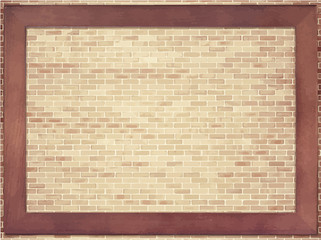 Brown brick wall texture  with copy space