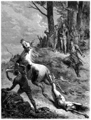 Medieval Execution - Supplice de Brunehaut - 6th century