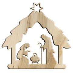 Weihnachtskrippe, Krippenfigur, geschnitzt, Schnitzkunst, Ahorn