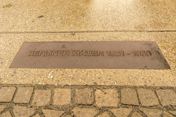 Place of the Berlin wall until 1989, Germany