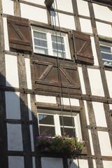 Fachwerk-Fassade in Recklinghausen, NRW, Deutschland