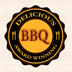 delicious bbq stamp