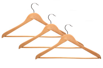 Some hangers for clothes isolated on white