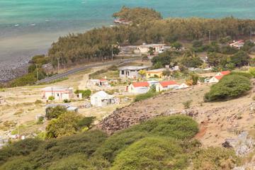 village de Port Sus Est, île Rodrigues