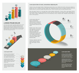 Infographic page template. Vector elements.
