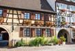 Maisons à colombages à Eguisheim, Alsace, Haut Rhin