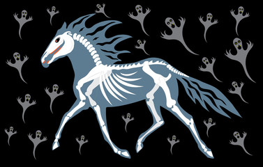 Horse ghost and spirits.