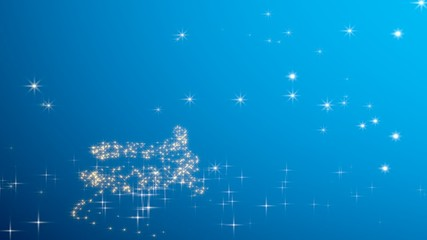 Christmas tree shape with stars - blue.