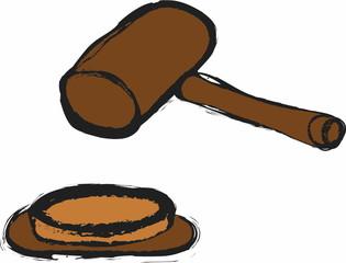 doodle judge's gavel