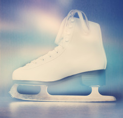 white ice skate for figure skating