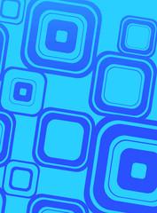 Blue squares on cyan
