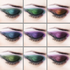 Professional eye makeup
