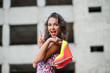 canvas print picture - girl fashion