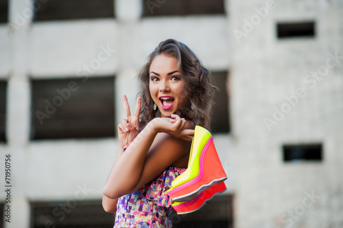 canvas print picture girl fashion