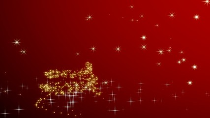 Christmas tree shape with stars - red.
