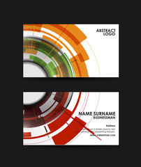Business card vector design template