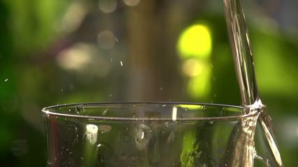 Poured Sparkling Wine Closeup