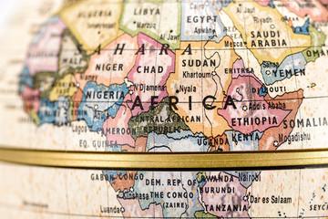 地球儀 アフリカ