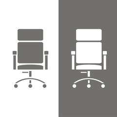 Icono sillón oficina BN