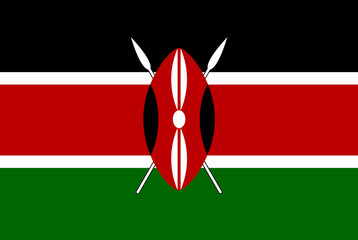 original and simple Kenya flag