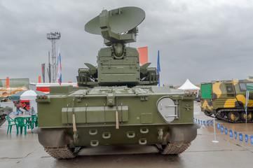 Back of antiaircraft gun missile system Tunguska