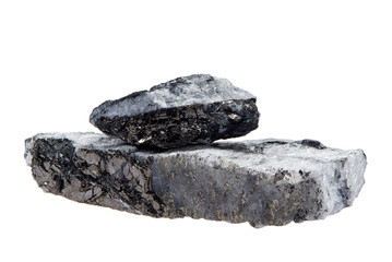 coal pyrite isolated on white