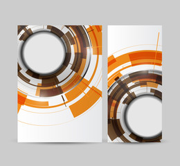 Brochure business abstract technology circles or roll up.