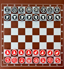 small magnetic chess board game