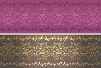 Ornamental purple and brown borders